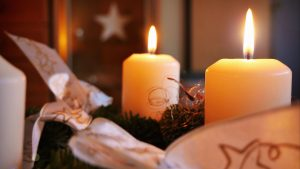 3840x2160 Wallpaper candles, christmas, new year