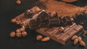 3840x2160 Wallpaper chocolate, nuts, cocoa, brown