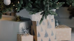 3840x2160 Wallpaper gifts, boxes, tree, decorations, new year, christmas