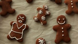 3840x2160 Wallpaper gingerbread, cookies, cooking, new year, christmas