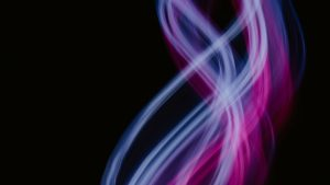 3840x2160 Wallpaper light, lines, curves, abstraction, purple