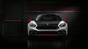 3840x2160 Wallpaper abarth, fiat, front view, black