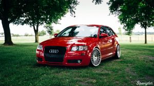 3840x2160 Wallpaper audi a3, red, front view, auto, grass
