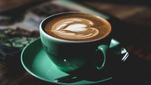 3840x2160 Wallpaper coffee, cappuccino, cup, pattern