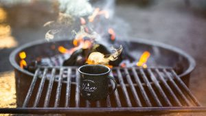 3840x2160 Wallpaper barbecue, fire, cup, flames