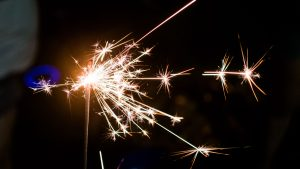 3840x2160 Wallpaper bengal fire, sparkle, sparks, holiday