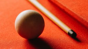 3840x2160 Wallpaper billiards, ball, cue, table, hole, red, shadow