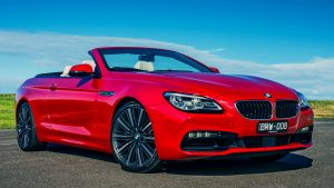 3840x2160 Wallpaper bmw, 6-series, 640i, convertible, red
