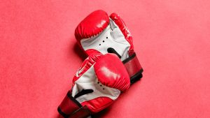 3840x2160 Wallpaper boxing gloves, gloves, boxing, red, sport