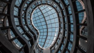3840x2160 Wallpaper building, architecture, glass, ceiling