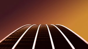 3840x2160 Wallpaper building, architecture, lines, backlight