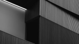 3840x2160 Wallpaper building, architecture, stripes, black and white, bw