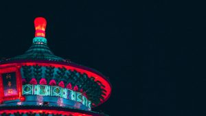 3840x2160 Wallpaper building, structure, china, lights, architecture