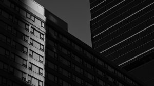3840x2160 Wallpaper buildings, architecture, shadow, bw