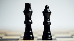 3840x2160 Wallpaper chess, pieces, game, king, queen