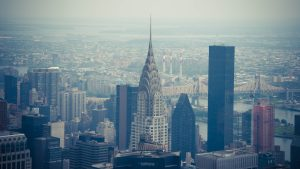 3840x2160 Wallpaper chrysler building, city, buildings, architecture, aerial view, new york