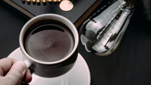3840x2160 Wallpaper coffee, cup, hand, interior