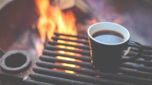 3840x2160 Wallpaper coffee, grill, cup