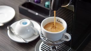 3840x2160 Wallpaper coffee machine, coffee, drink, cup, hot