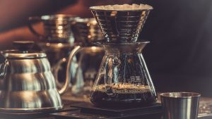 3840x2160 Wallpaper coffee maker, coffee, dishes