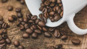 3840x2160 Wallpaper cup, coffee beans, coffee