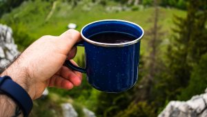 3840x2160 Wallpaper cup, coffee, hand, nature