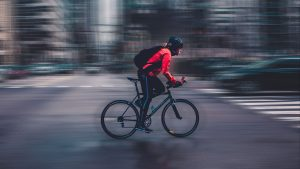3840x2160 Wallpaper cyclist, speed, bicycle, motion, blur