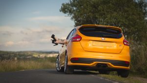 3840x2160 Wallpaper ford, car, legs, shoes, high-heeled shoes, tattoos, girl, rest, nature, ford focus st