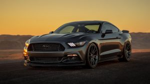 3840x2160 Wallpaper ford mustang, ford, bumper, gray, sunset