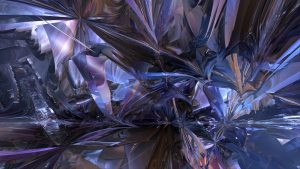 3840x2160 Wallpaper fractal, chaos, abstraction, blue