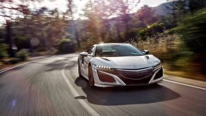 3840x2160 Wallpaper honda, acura, nsx, front view, speed