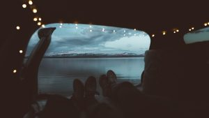 3840x2160 Wallpaper lake, mountains, camping, view, overview
