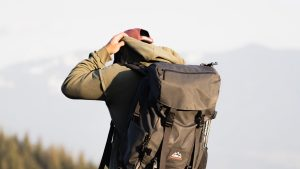 3840x2160 Wallpaper man, backpack, style, camping
