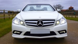 3840x2160 Wallpaper mercedes-benz, c63, amg, convertible, white, front view