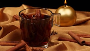 3840x2160 Wallpaper new year, tea, candle