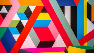 3840x2160 Wallpaper pattern, geometric, colorful, lines, shapes, abstraction, modern art