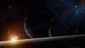 3840x2160 Wallpaper planets, flash, bright, glow, space