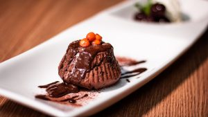 3840x2160 Wallpaper pudding, chocolate, topping, dessert