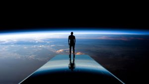 3840x2160 Wallpaper silhouette, space, planets, atmosphere, glow, view