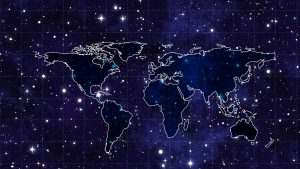 3840x2160 Wallpaper space, continents, map