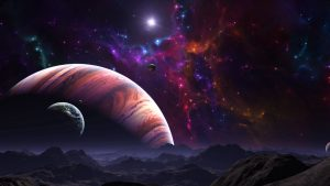 3840x2160 Wallpaper space, open space, planets, art, colorful